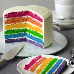 Rainbow Layer Cake - Whyzee Birthday Cake Delivery