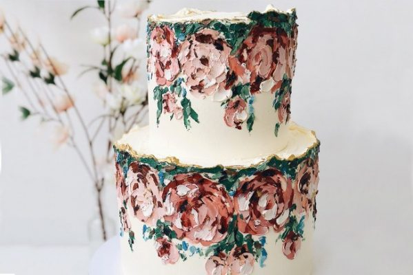 Abstract Style Buttercream Cake