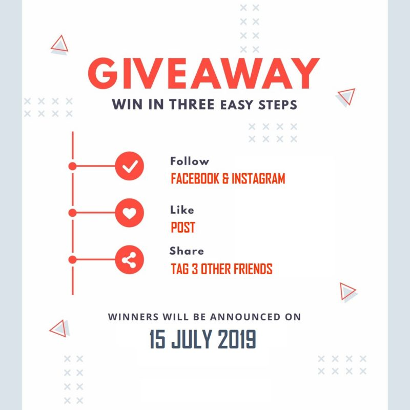 Giveaway 15 July 2019
