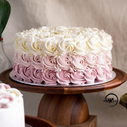 Pink Ombre Rosette Cake - Whyzee Birthday Cake Delivery