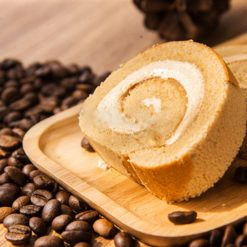 Coffee Swiss Roll - Whyzee Birthday Cake Delivery