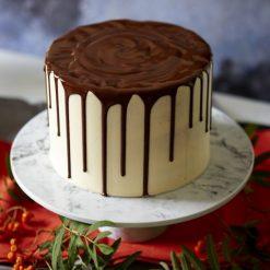 Chocolate Drip Vanilla Cake - Whyzee Birthday Cake Delivery